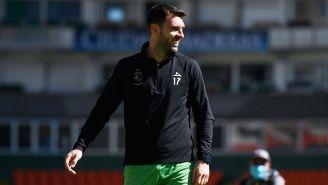 Mauro Boselli durante un entrenamiento con León