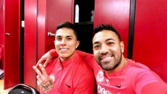 Salcedo y Marco Fabián, con el Eintracht