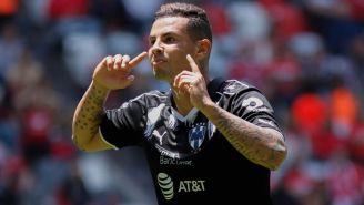 Cardona celebra un gol con Rayados