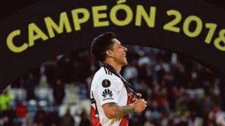 Enzo con su medalla de Campeón de la Copa Libertadores