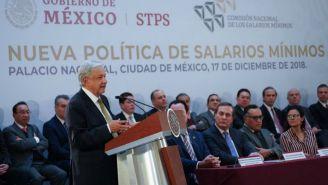 Andrés Manuel López Obrador durante una conferencia de prensa