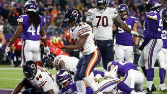 Cohen celebra su touchdown frente a los Vikings