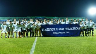 Jugadores de Alebrijes y Cafetaleros se manifiestan en la Final del Ascenso