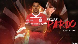 Toluca presenta a su nuevo refuerzo Felipe Pardo