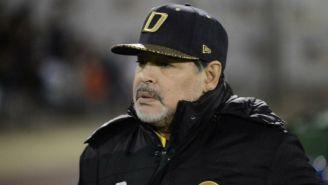 Diego Maradona durante un partido de Dorados