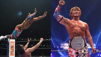 HIroshi Tanahashi posa con el título en su cintura