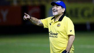 Maradona en práctica con Dorados