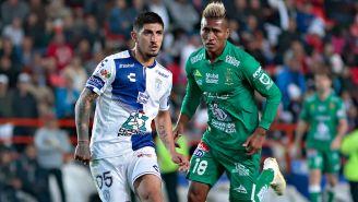 Víctor Guzmán, en un partido frente a León