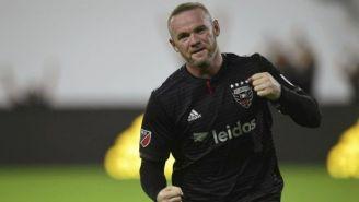 Wayne Rooney celebra en partido de la MLS