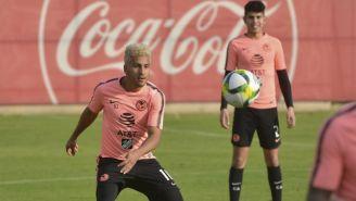 Cecilio Domínguez durante un entrenamiento del América