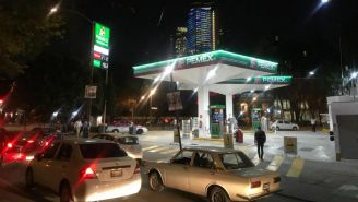 Una gasolinería en la CDMX