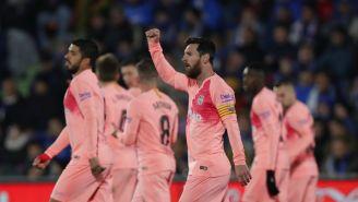 Messi, celebra anotación contra el Getafe