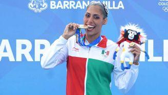 Nuria Diosdado presume su medalla en Barranquilla 2018