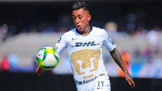 Martín Rodríguez, durante un partido con Pumas