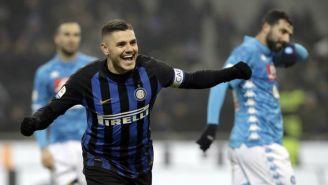 Icardi celebra anotación con el Inter de Milan