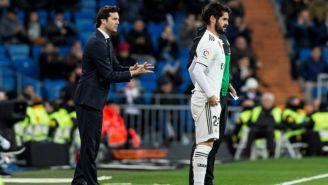 Isco previo a entrar de cambio en el encuentro del Real Madrid