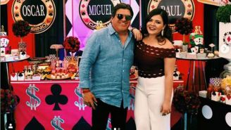 Mishelle junto a su padre, Miguel Herrera