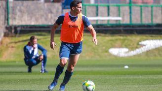Iván Marcone, durante un entrenamiento con Cruz Azul