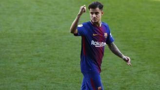 Coutinho en un juego con el Barcelona