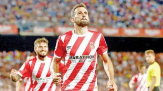 Stuani festeja un gol con el Girona