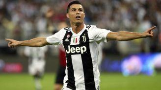 Cristiano Ronaldo celebra su anotación frente al Milan