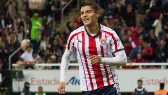 Ronaldo Cisneros festeja gol ante Cafetaleros de Tapachula