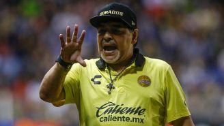 Diego Maradona en un partido de Dorados