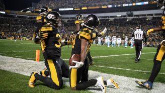 Pittsburgh celebra touchdown