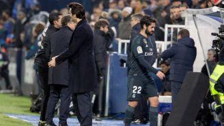 Solari e Isco, durante un juego del Real Madrid