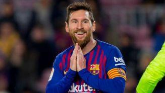 Messi durante el partido contra el Levante