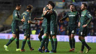 Betis celebrando su pase a los Cuartos de Final de la Copa del Rey