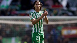Lainez, tras su debut con el Betis en España