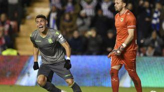 Moreno festeja gol
