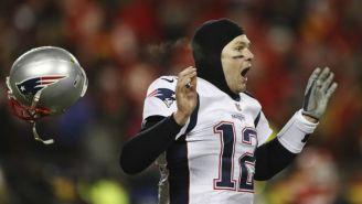 Tom Brady festeja el triunfo de los Patriots ante los Chiefs