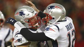 Brady celebra anotación de New England