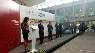 Ana Guvera, durante una conferencia de prensa