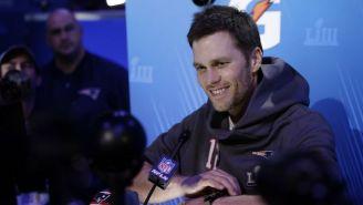 Tom Brady durante la conferencia de prensa
