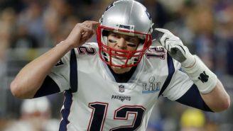 Tom Brady durante un partido de los Patriots