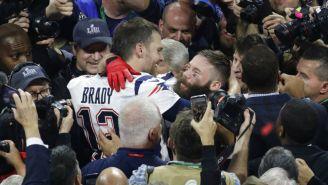Brady festeja junto a Edelman Super Bowl LIII