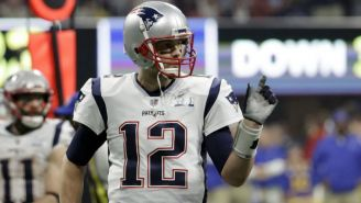 Tom Brady durante el Super Bowl LIII
