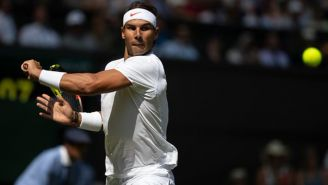 Rafa Nadal durante un juego de Grand Slam