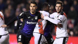 Diego Reyes, durante juego con el Leganés