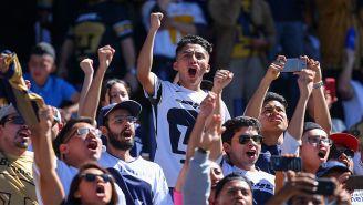 Afición de Pumas, durante un partido