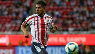 Miguel Ponce durante un partido con Chivas