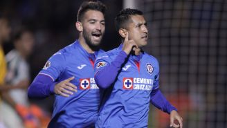 Elías Hernández celebra gol ante Tigres en la J3 de C2019
