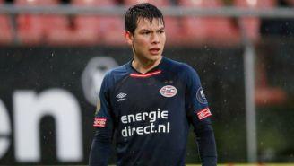Chucky Lozano durante el partido del PSV
