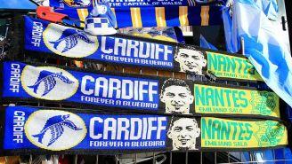 Bufanda de Cardiff y Nantes en homenaje a Emiliano Sala