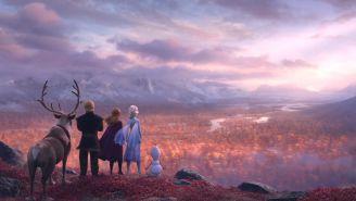 Los personajes de Frozen miran el horizonte
