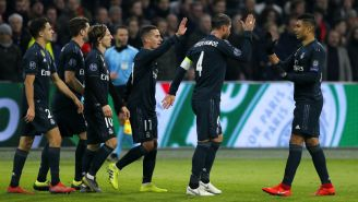 Real Madrid celebra una anotación frente al Ajax