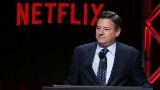 Ted Sarandos durante una conferencia de Netflix